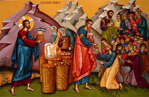 The Feeding of the Five Thousand in the Four Gospels